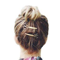 Sponka do vlasů s motivem nůžek - 1 ks