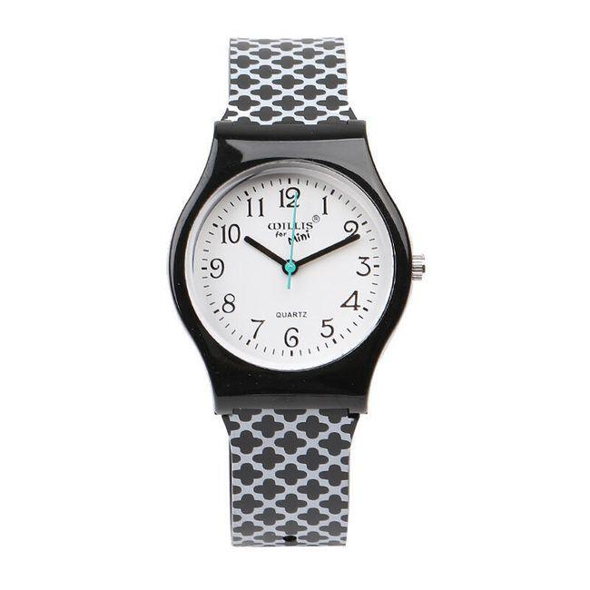 Dvoubarevné silikonové hodinky - 2 barvy 1