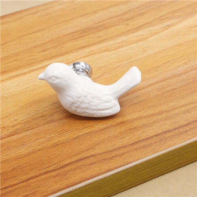 Keramická rukojeť - ptáček 1