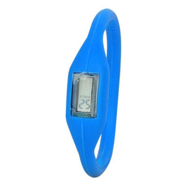 Digitální silikonové hodinky ION - Modré 1