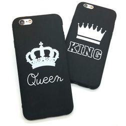 Módní ochranný kryt pro různé modely iPhonů - Královna&Král