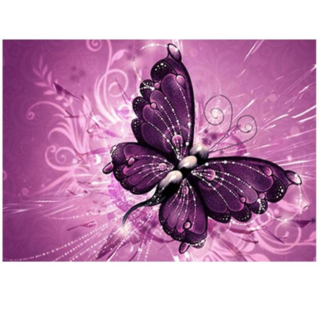 DIY obraz z kamínků - motýl 1