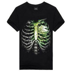 Pánské triko se skeletonem - černá