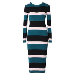 Pruhované pletené šaty Amalea - 3 barvy