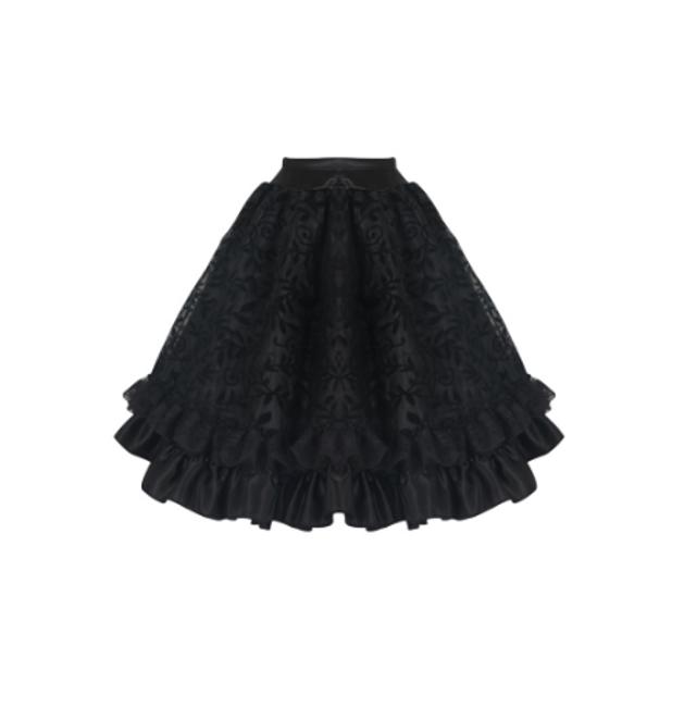 Volánková steampunková sukně 1