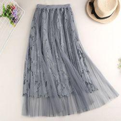 Dlouhá sukně s krajkou - 4 barvy