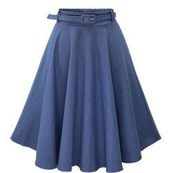 Skládaná sukně s páskem