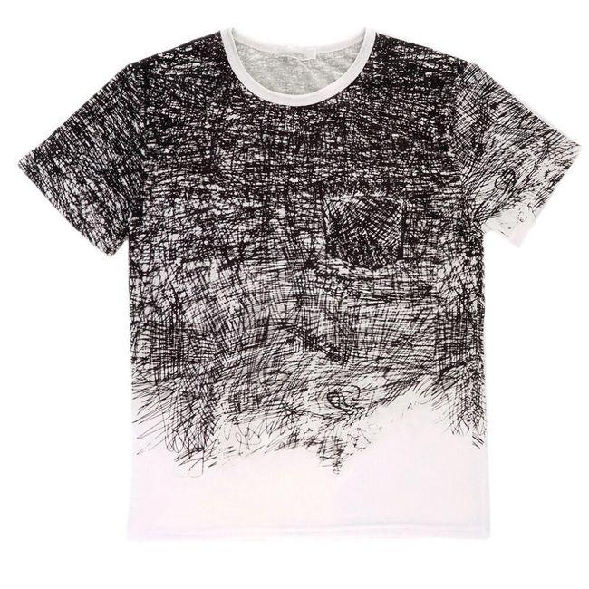 Jednoduché černobílé pánské tričko 1