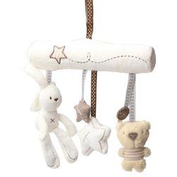 Roztomilý dětský kolotoč s plyšovými hračkami