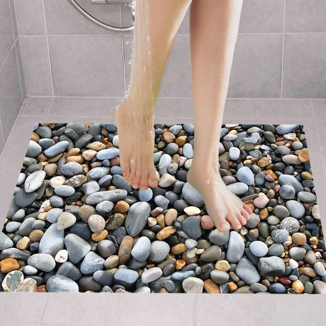 Samolepka do koupelny - plážové kamínky 1