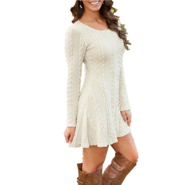 Šaty s dlouhým rukávem - v plus size velikostech 1