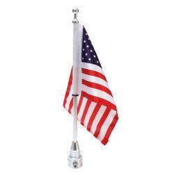 Vlaječka na motorku s motivem americké vlajky
