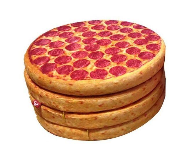Měkký podsedák v podobě salámové pizzy 1