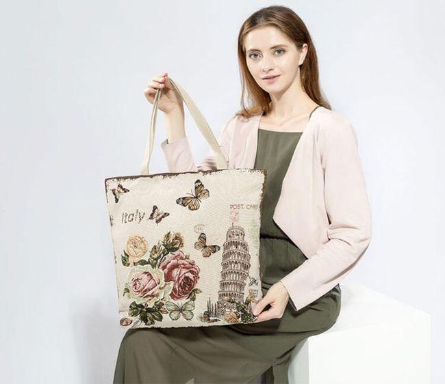 Květinová plátěná taška - 3 varianty 1