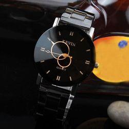 Náramkové černé hodinky Kevin v elegantním provedení