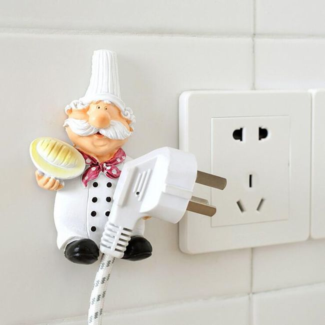 Držák kabelů s kuchyňskými motivy - 2 varianty 1