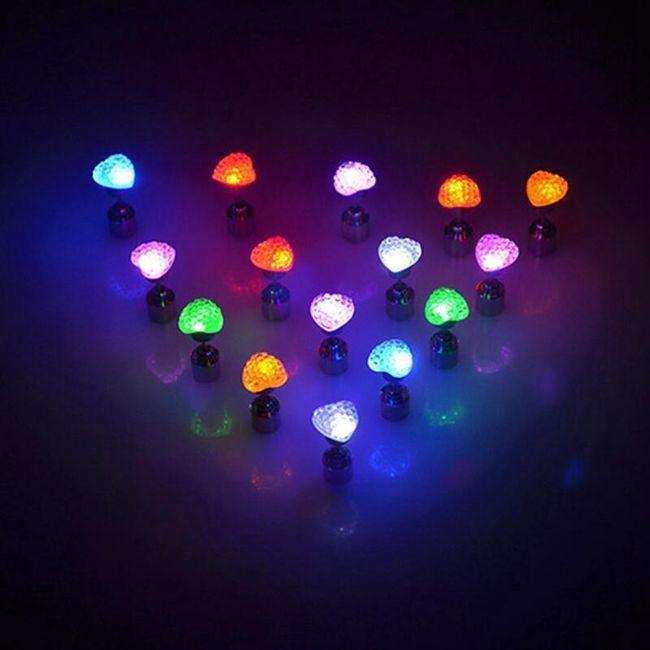 Svítící LED náušnice 1