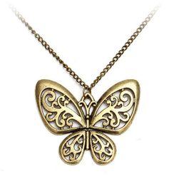 Motýlek - vintage náhrdelník