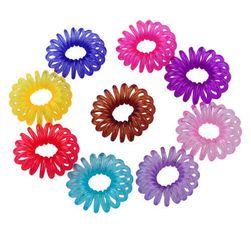 Barevné gumičky ve tvaru telefonního drátu - 10 kusů