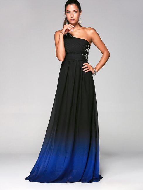 Večerní šaty s ombre přechodem - 4 velikosti 1