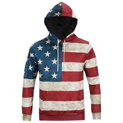 Pánská mikina - americká vlajka