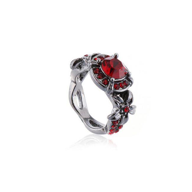 Elegantní prsten s kamínky - 2 barvy 1