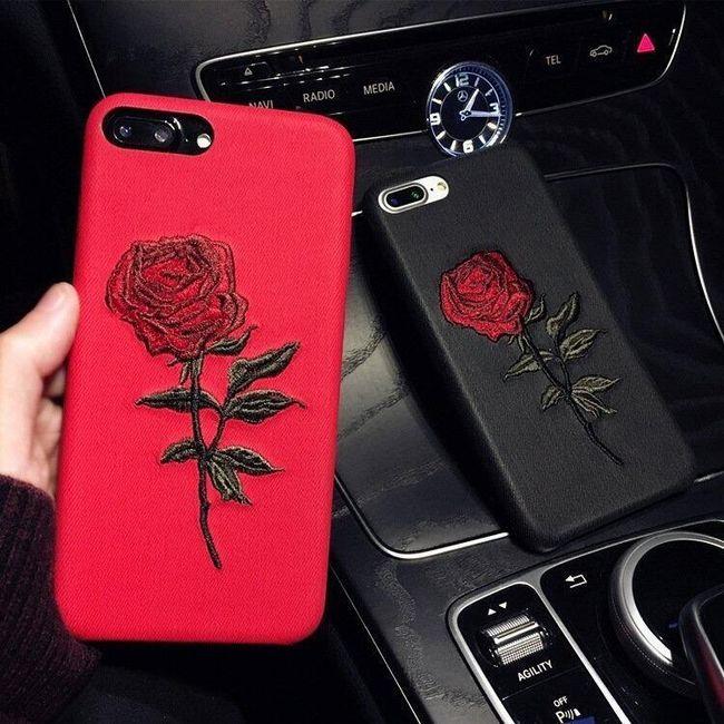 Kryt na iPhone 6/6Plus/7/7Plus s růží 1