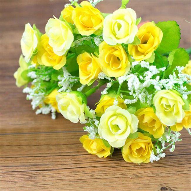 Kytice umělých květin - 5 barev 1