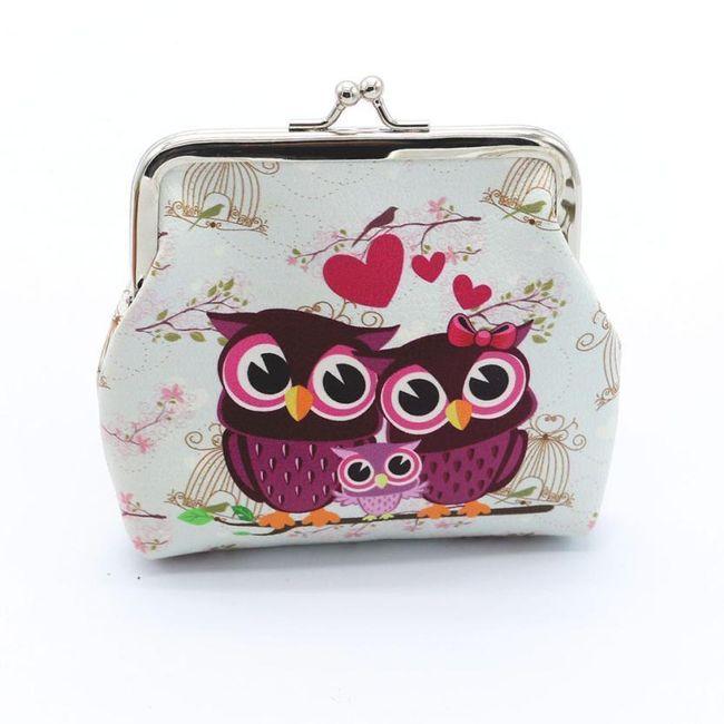 Mini peněženka se zamilovanými sovičkami 1