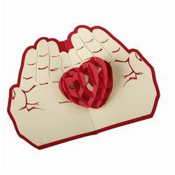 Valentýnské papírové 3D přáníčko