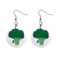 Plackové náušnice - Brokolice