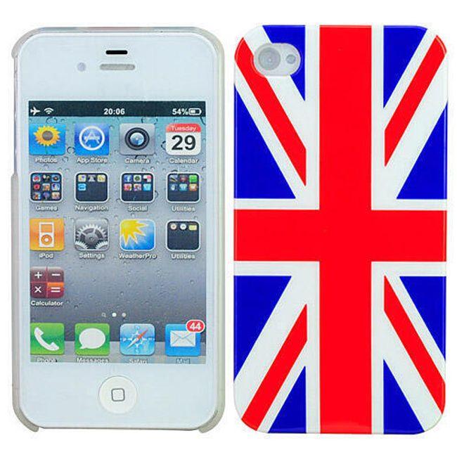 Plastový ochranný kryt na iPhone 4 a 4S - vlajka Velké Británie 1