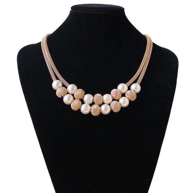 Elegantní náhrdelník s perličkami 1
