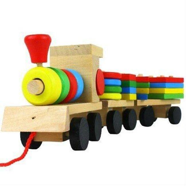 Dřevěný vláček pro děti 1