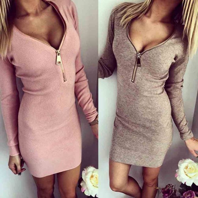 Luxusní dámské elastické šaty - 3 barvy 1