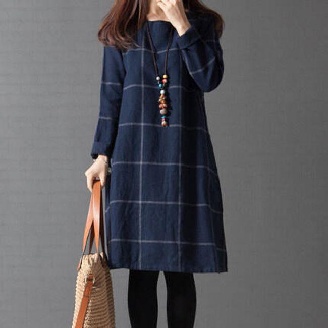 Dámské šaty s dlouhým rukávem Ines 1