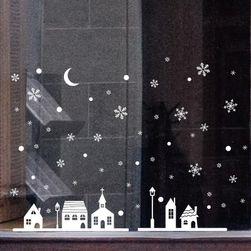 Vánoční samolepky na sklo