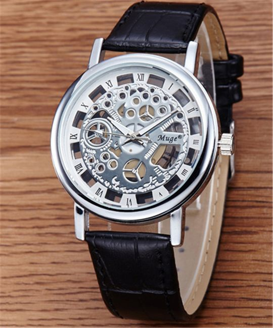 Pánské hodinky s dutým ciferníkem 1