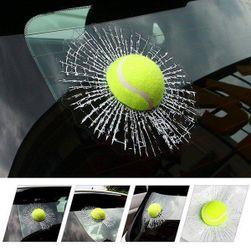 3D samolepka tenisového míčku na auto