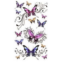 Dočasné tetování pro ženy - motýli