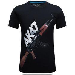 Pánské tričko s potiskem zbraně - 7 variant