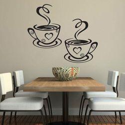 Stylová nálepka na zeď - káva s láskou
