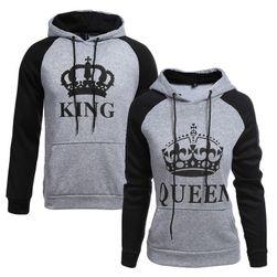 Král a královna mikina pro pár
