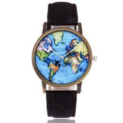 Náramkové hodinky s cestujícím letadlem - 7 barev