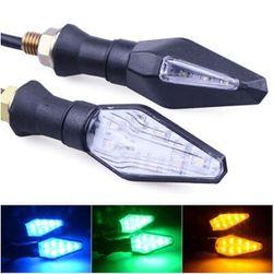 12 V LED blinkry na motocykl - 3 barvy světla