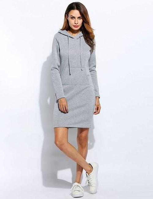 Dlouhé mikinové šaty - různé barvy 1
