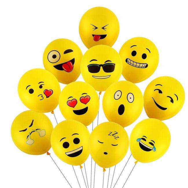 Balónky se smajlíky - 100 kusů 1
