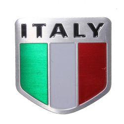 Hliníková samolepka na auto Italy