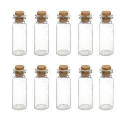 Sada malých skleněných lahviček s korkovým uzavíráním Lena