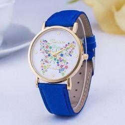 Jemné hodinky s motýlkem z květin